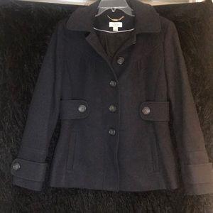 Ann Taylor Loft Wool Mix Navy Peacoat